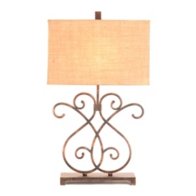 Ella Metal Scroll Table Lamp