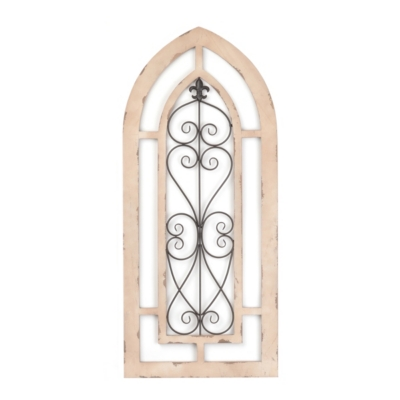 Distressed Cathedral Arch Plaque