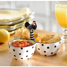 Chicken 3-Section Dip Bowl