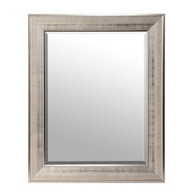 Silver Grid Framed Mirror, 29x35