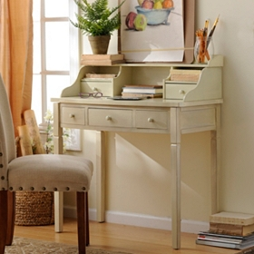 Harrison Ivory 5-Drawer Study Desk
