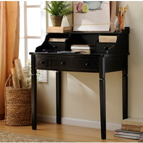 Harrison Black 5-Drawer Study Desk