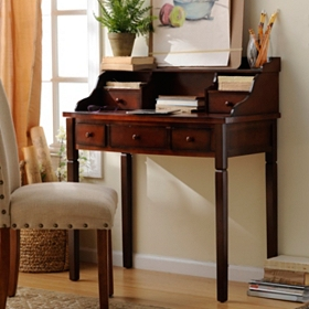 Harrison Mahogany 5-Drawer Study Desk
