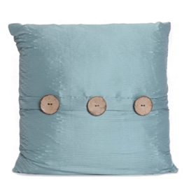 Aqua Porter Button Pillow, 20 in.