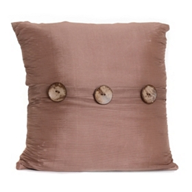 Tan Porter Button Pillow, 20 in.