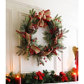 Frosted Red Berry Wreath