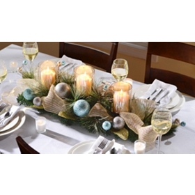 Metallic Ice Centerpiece