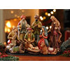 Ceramic Nativity Scene, Set of 9