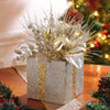 Champagne Christmas Present Floral Arrangement