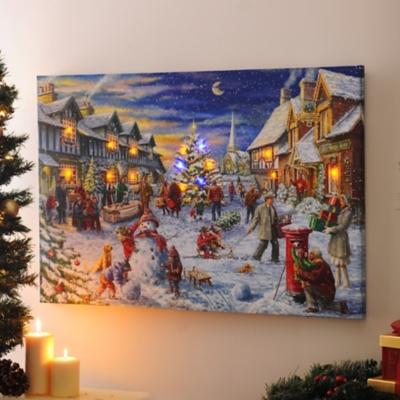 Christmas Eve LED Canvas Art Print