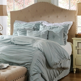 Ruched Sea Mist 7 pc. King Comforter Set