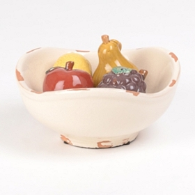 Ceramic Fruit Bowl, 12 in.