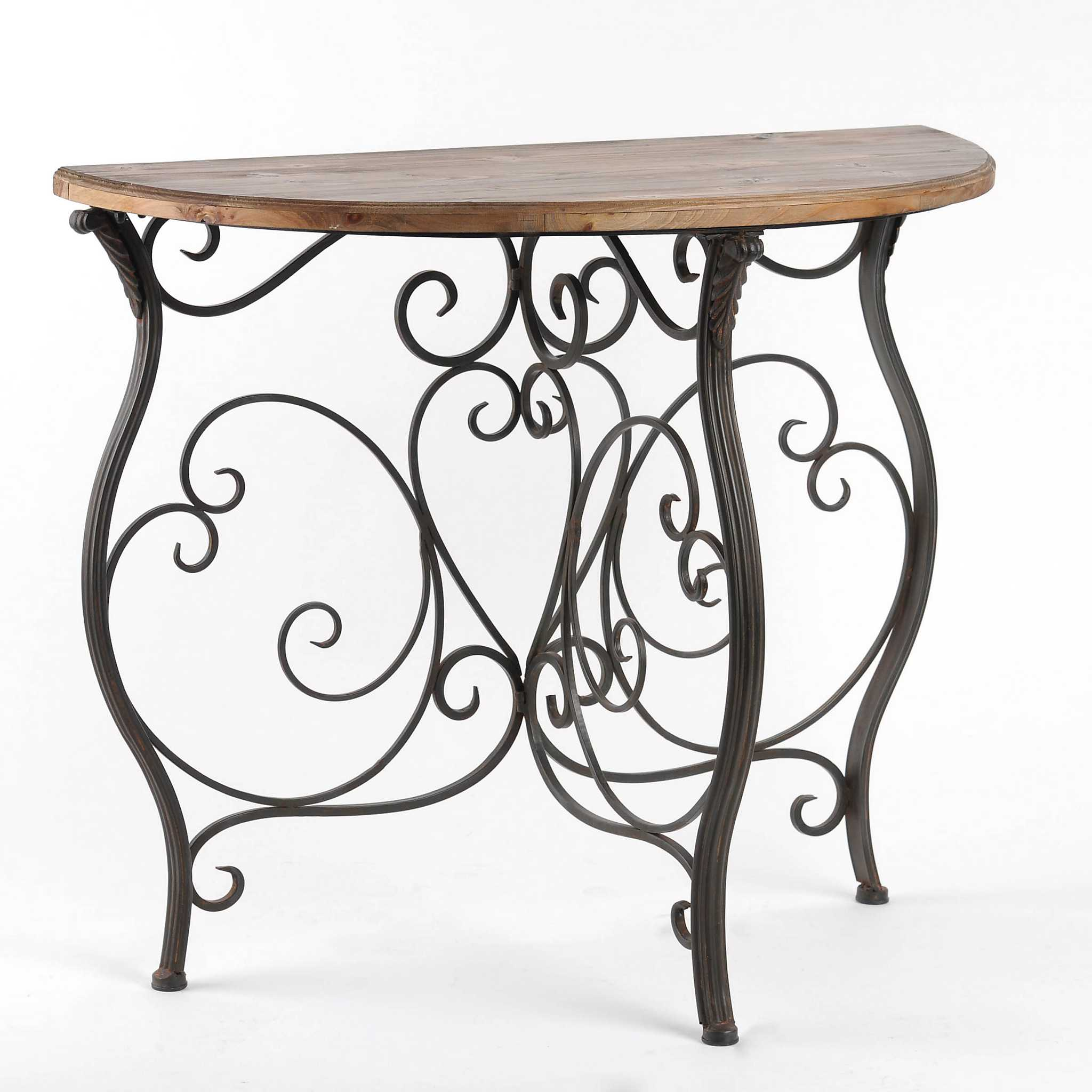 Country Side Demilune Console Table Kirklands