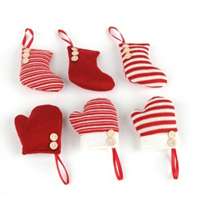 Knitted Mitten & Stocking Ornaments