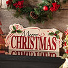 White Merry Christmas Wall Plaque