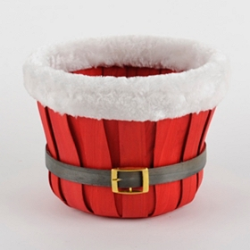 Woven Santa Belt Christmas Basket
