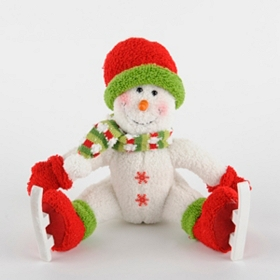 Plush Ice Skating Snowman