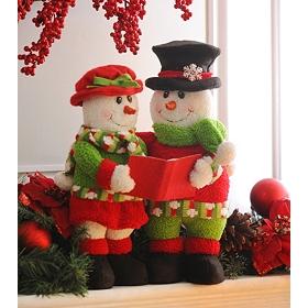Caroling Snowman Couple