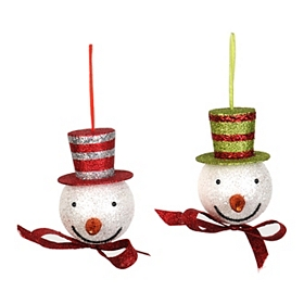 Top Hat Snowman Ornament