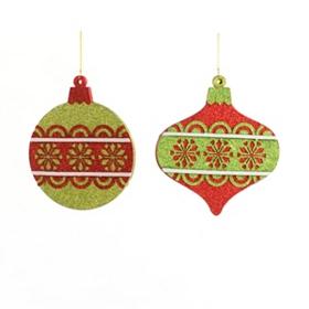 Flat Snowflake Bulb Ornament