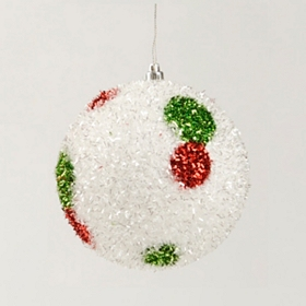 Glitter Polka Dot Ornament