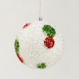 Glitter Polka Dot Ornament