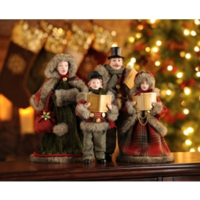 Here We Come a Caroling, Set of 4