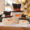 Terracotta Snowmen Statue, Set of 3