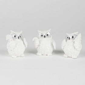 Shimmering Snow Owl Figurine