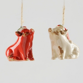 Jolly Pig Ornament