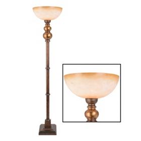 Bronze Bulb Torchiere