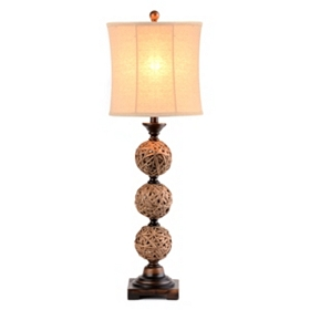 Rattan Orb Table Lamp