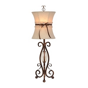 Seville Scroll Metal Table Lamp