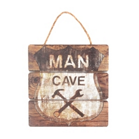 Man Cave Rustic Wall Sign