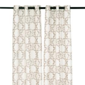 Mushroom Infinity Curtain Panel Set, 84 in.