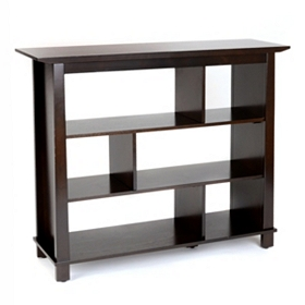 Havanna 3-Shelf Espresso Bookcase