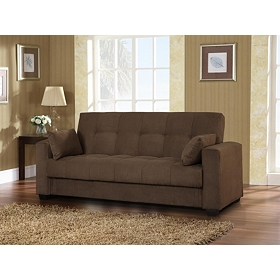 Lexington Dark Brown Convertible Storage Sofa