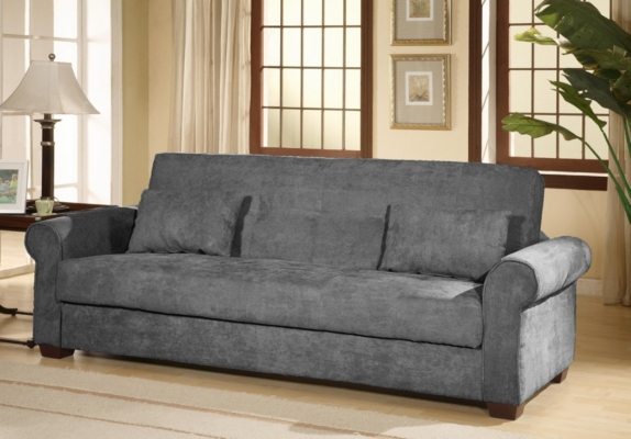 Roxbury Gray Convertible Storage Sofa