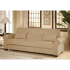 Roxbury Tan Convertible Storage Sofa