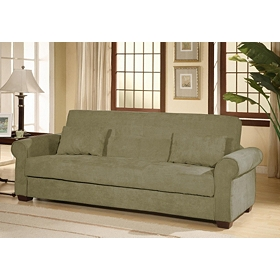 Roxbury Olive Convertible Storage Sofa