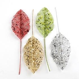 Glitter Leaf Pick