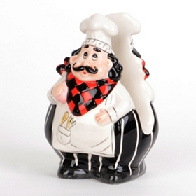 Ceramic Chef Napkin Holder
