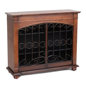 French Gate Wood Cabinet