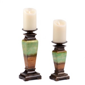 Two-Tone Candle Holder, Set of 2