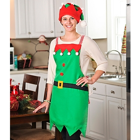 Mama Elf Apron & Hat