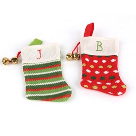 Monogrammed Stocking Ornament