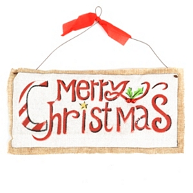 Burlap Merry Christmas Sign