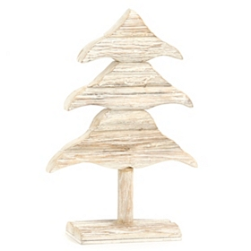 Distressed Wooden Christmas Tree Statue