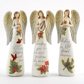 Christmas Blessings Angel Statues
