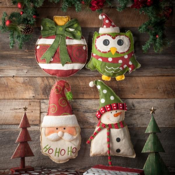 Burlap Christmas Door Hangers  Kirklands